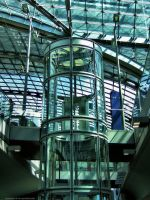 Lift in the Railway Station by pingallery