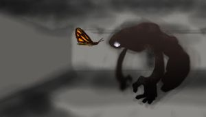 Butterfly and The Monster by octobomb