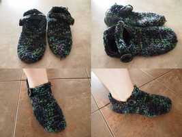 Slippers by Kelly-Crochet