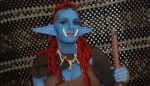 Warcraft Troll Makeup by AlliApocalips