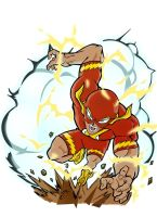 The Flash - Akira Toriyama Style - colour by ludy83