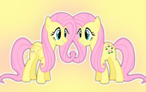Posey and Fluttershy Wallpaper by CandyUtame