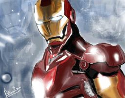 Iron man all the way by Hobbes12345