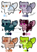 5 Point Adoptables [One Left] by ArcticFoxSoul