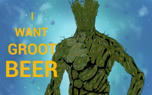 Groot thirsty  for beer by ARTBoY-M