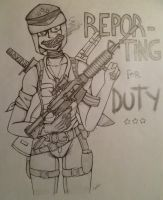 Reporting for Duty by Black-Jenny