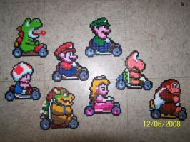 Mario Kart in perler beads by Cristiaso