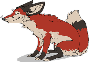 smilin' bored fox by Kiboku