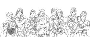 DnD Party by DarkeningFire