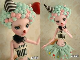 Custom monster high doll clown by OzDoll