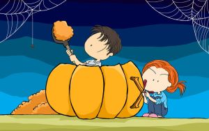 Everybody loves to dig pumpkin up by worrynet