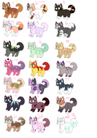 15 Point cat adoptables open by werewolf-png