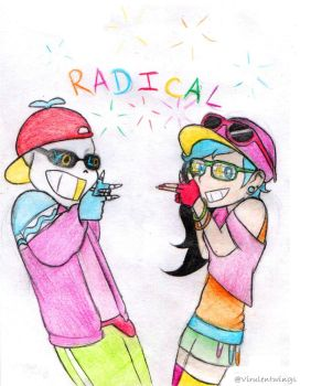 Radical brosephs by VirulentWings