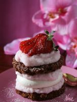 chocolate strawberry pastry by cookiefiles