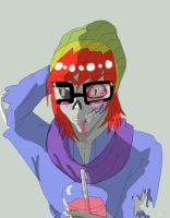 Super Cool Hipster Zombie+AT by 25animeguys
