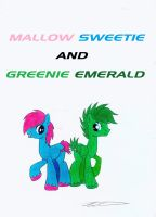 Mallow Sweetie and Greenie Emerald by Azure-Zecron