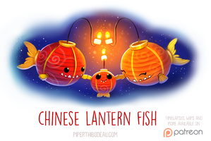 Daily Paint 1530. Chinese Lantern Fish by Cryptid-Creations