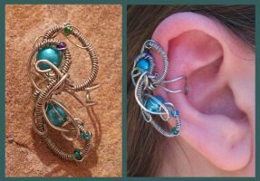 Aquatic Wonder Ear Cuff by balthasarcraft