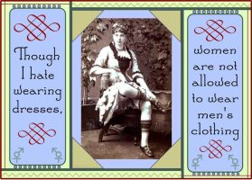 Ban on Cross Dressing--Card by raven-haven-creation