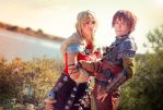 Astrid Hiccup by LauzLanille