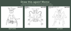 Arachne: Before and After by foxhead128