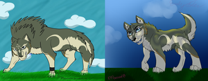 Redone Link Wolf AT by lolpeaceoutlol