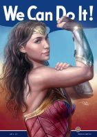 We Can Do It - WonderWoman by daniel-morpheus