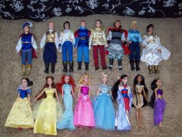 Disney Royalty in doll form by DisneyPrincessHope