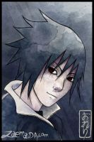 Watercolor Sasuke by Zaema