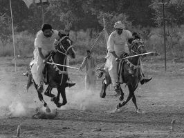 Tent Pegging - I by InayatShah