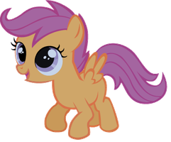 Scootaloo watching the sky. by sistemx