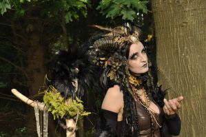 Stock - Faun Shaman Portrait Fantasy Female 11 by S-T-A-R-gazer