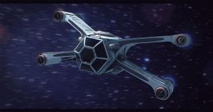 Star Wars Sith Starfighter 3D Commission by AdamKop