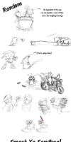Random Melee and Brawl Doodles by TamarinFrog