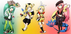 Pokemon Trainer Xover: Vocaloids1 by klinanime