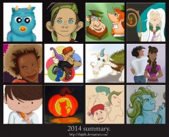 My 2014 drawings summary. by th55th