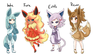 My Eeveelutions! by duckyduckie