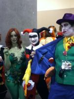 Poison Ivy, Harlequin and Joker at Phoenix Comicon by saki-senpai