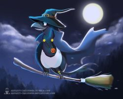 Magpie Witch by ArtKitt-Creations
