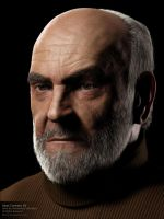 Sean Connery 3d by MScg