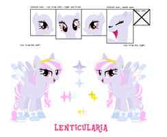 Cloud Pony Ref. Sheet - Lenticularia by RadiantClaire