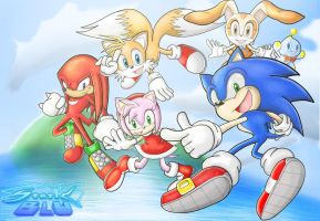 Sonic Advance Crew by StaticBlu