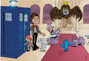 The Doctor Puppet on the Island of Misfit Toys by Dynamic-Illustration