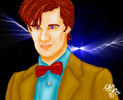11th Doctor Digital Painting by Chrisily