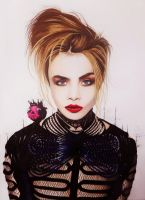 my drawing of Cara Delevingne by aggelikhxiarxh