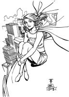 Supergirl Rooftop by 7daywalk
