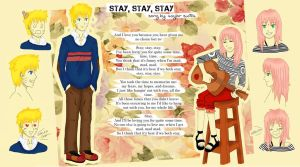 NaruSaku - Stay (the Singer and the Manager) by payung-merah