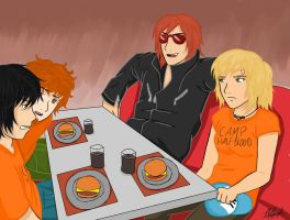 A god bought us cheeseburgers by awesomebenders