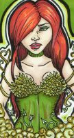 Poison Ivy Sketch Card by blue-but-beautiful