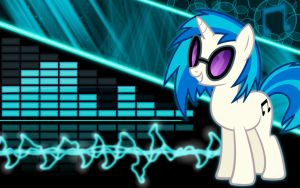 Vinyl Scratch Wallpaper by Glitcher007